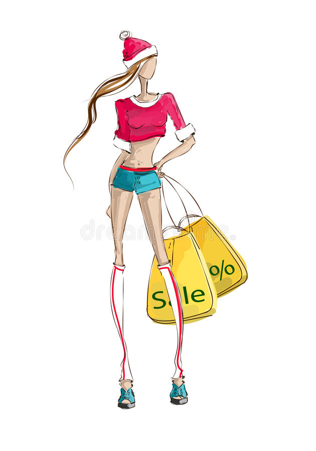 Model Fashion Christmas Sale Stock Vector Illustration Of Image Design 59661380