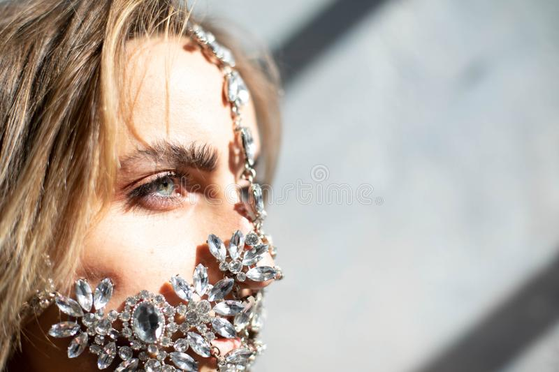 Face jewelry for royal look stock images