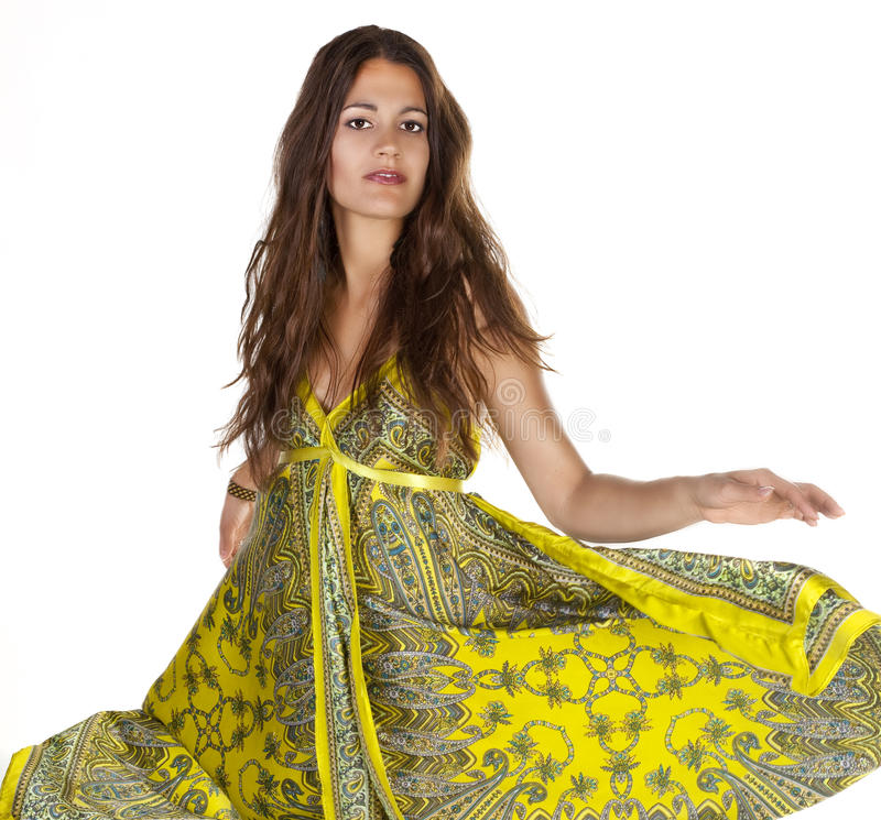 Download Model Fashion Portrait Isolated On White Stock Photo - Image: 24376180