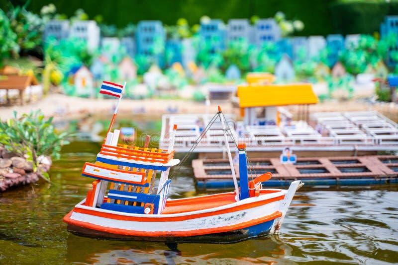 Model fishing boat for presentation. Boat royalty free stock photo