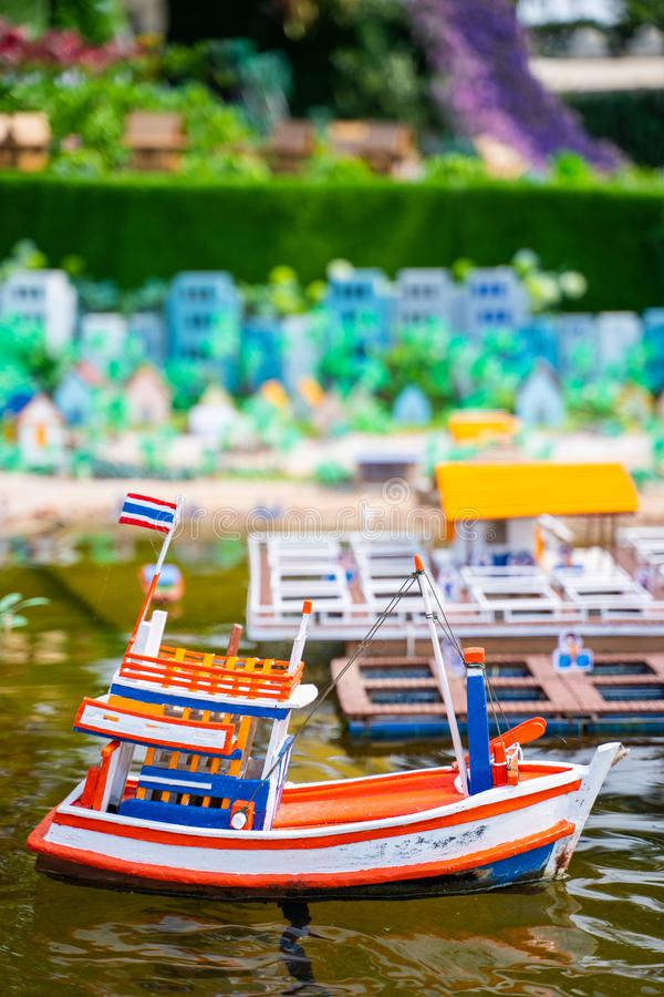 Model fishing boat for presentation. Boat stock photos