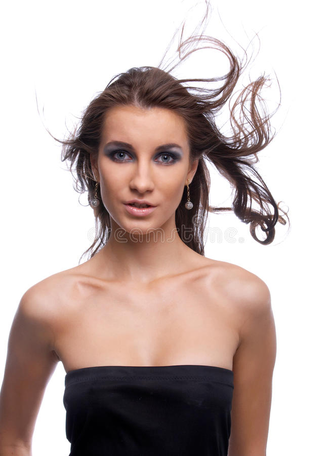 Model with flattering hair royalty free stock images