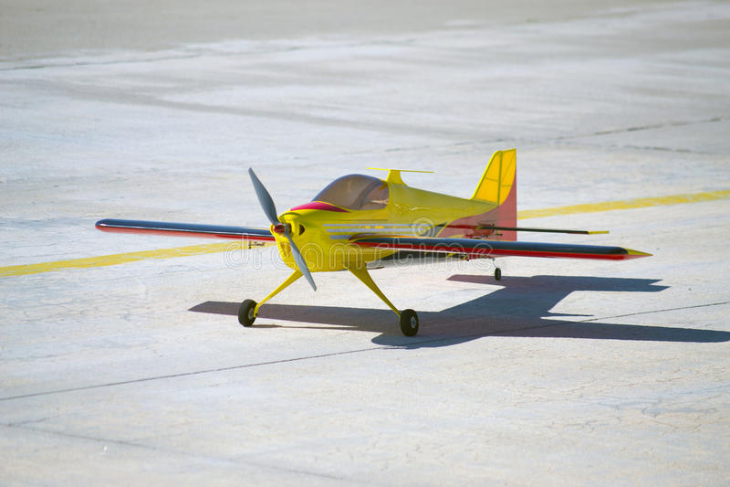 Model flygplan för RC fotografering för bildbyråer
