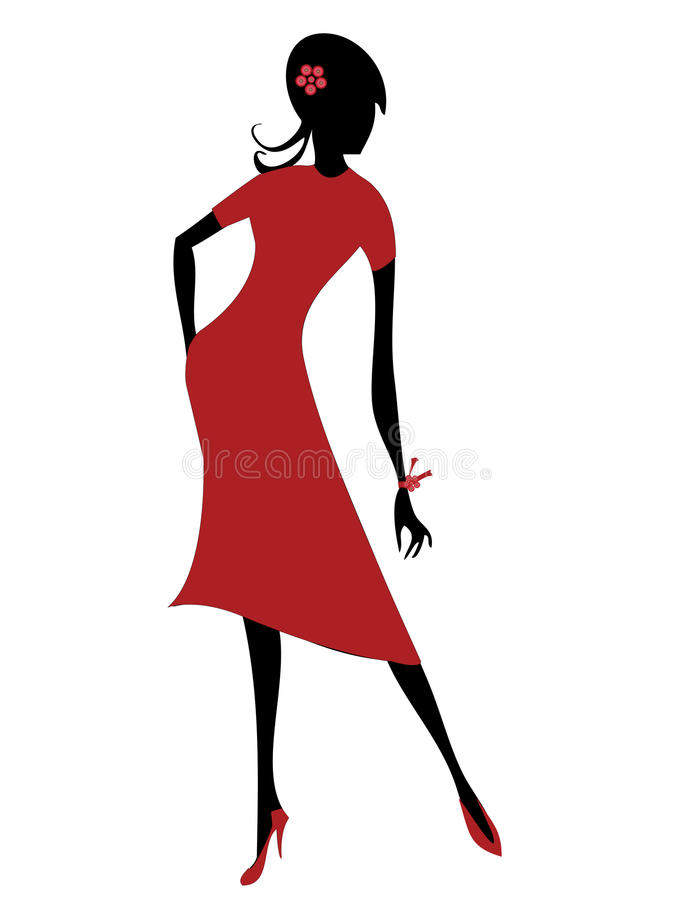 Model girl vector illustration