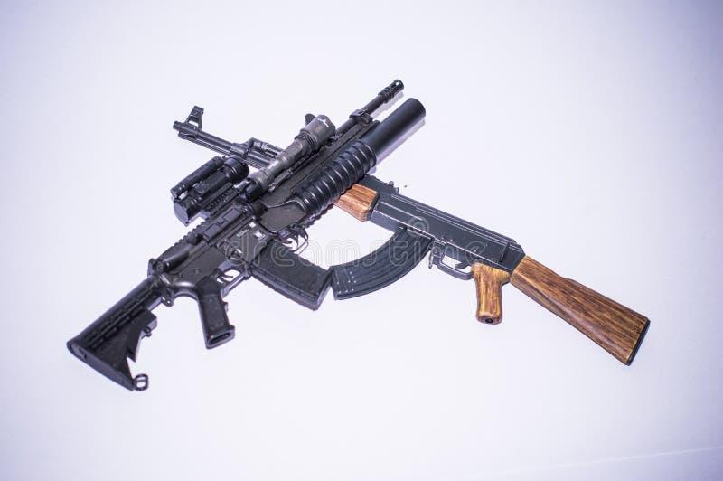 Model guns figure stock photo