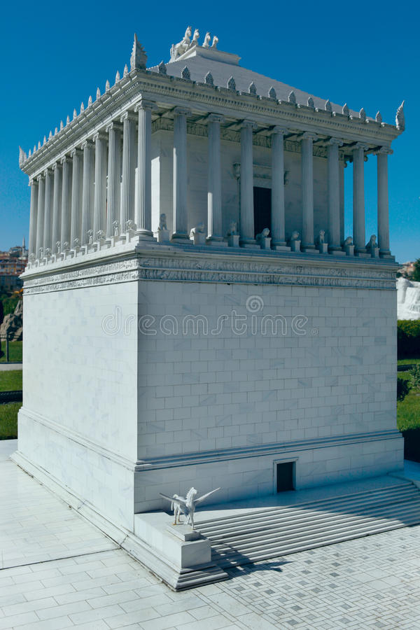 Model of Halcarnassus Mausoleum. Model of Halicarnassus Mausoleum in Miniaturk,Istanbul.Miniaturk is a miniature park which contains models of famous structures royalty free stock photo