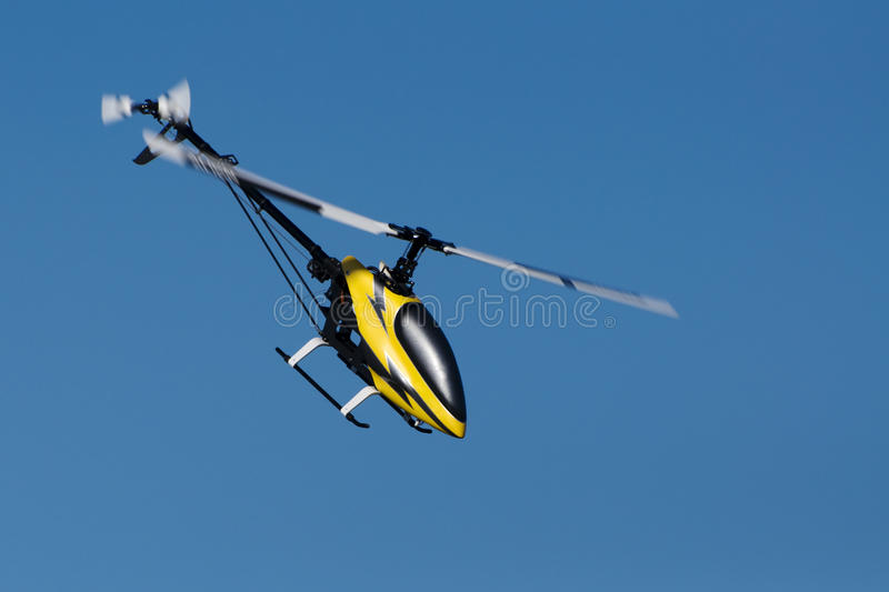 Model helicopter in flight royalty free stock photos