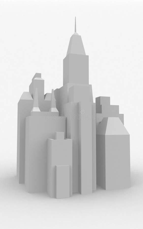 Model het Van de binnenstad van de stad stock illustratie