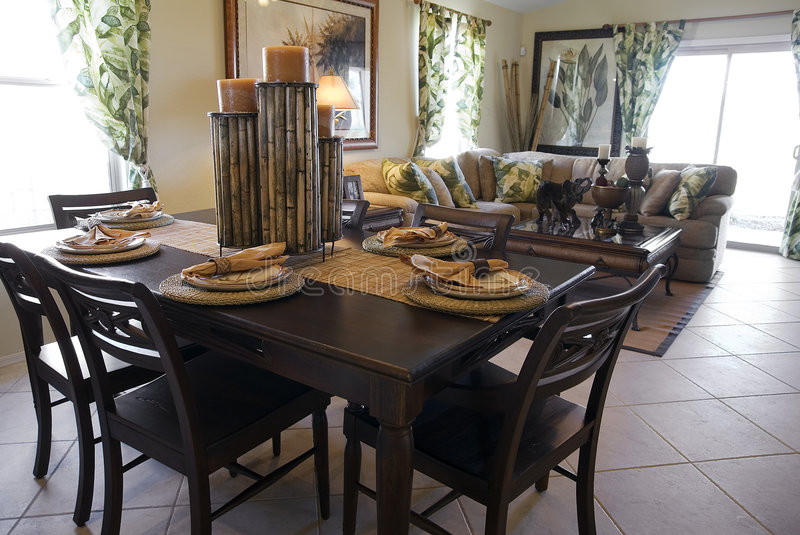 Model Home Interior Design Stock Photo. Image Of Table - 2061280
