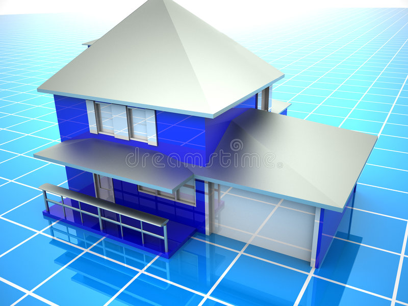 Model of house. 3d Very beautiful three-dimensional illustration, figure vector illustration