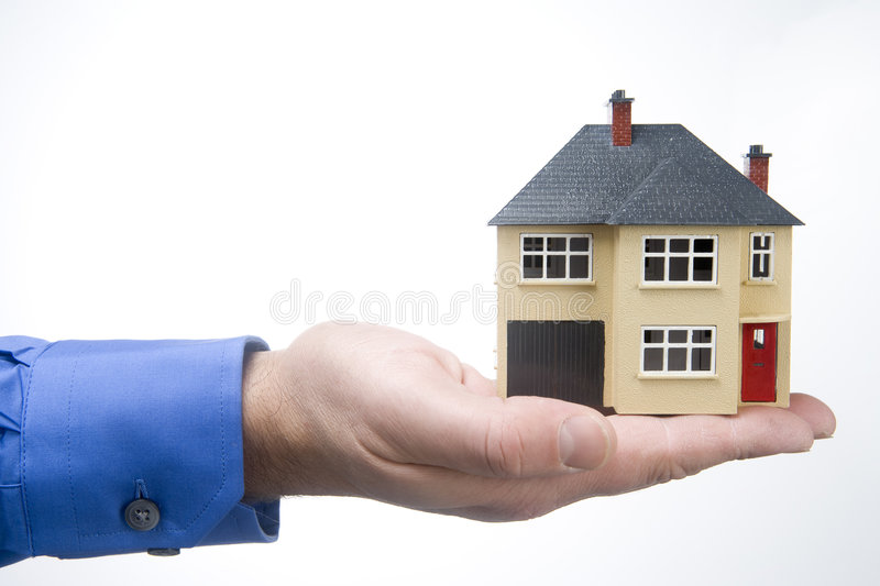 Model House. In A Hand royalty free stock photos