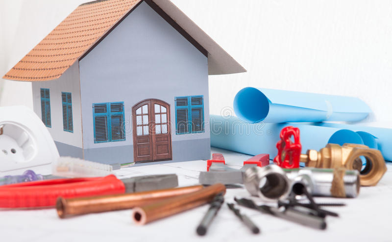 Download House stock image. Image of accommodation, drawing, architectural - 29866011