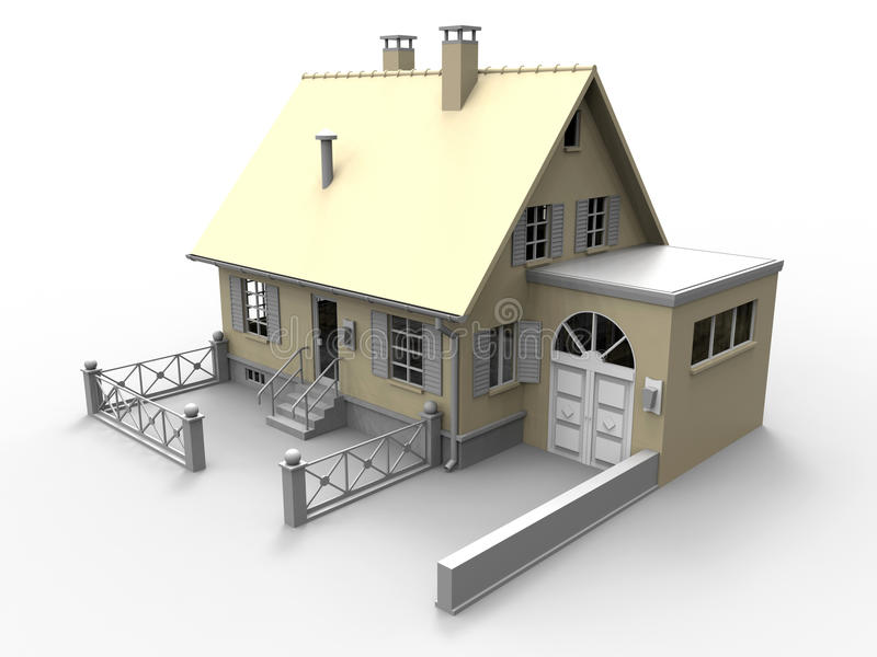 Model house vector illustration