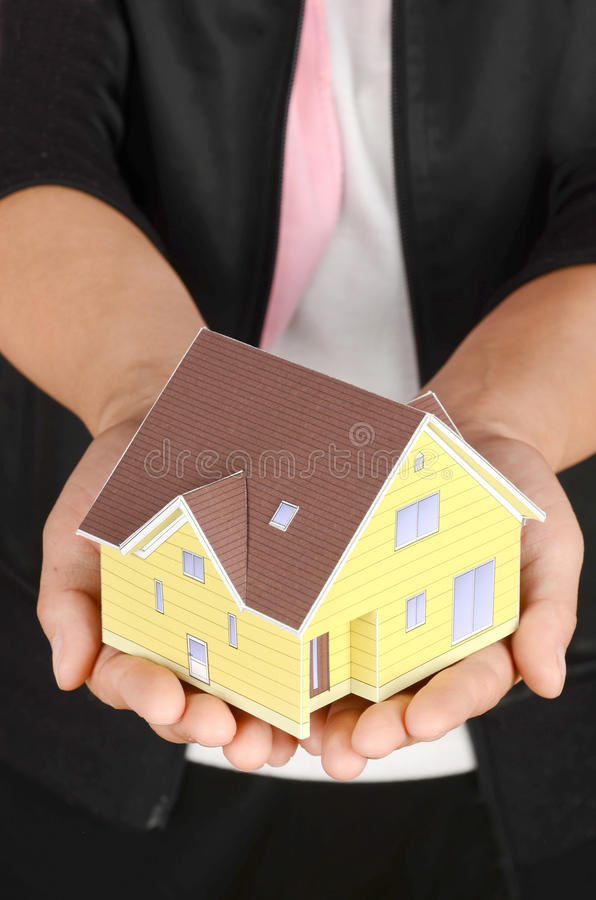 Model House In Hand Stock Photography
