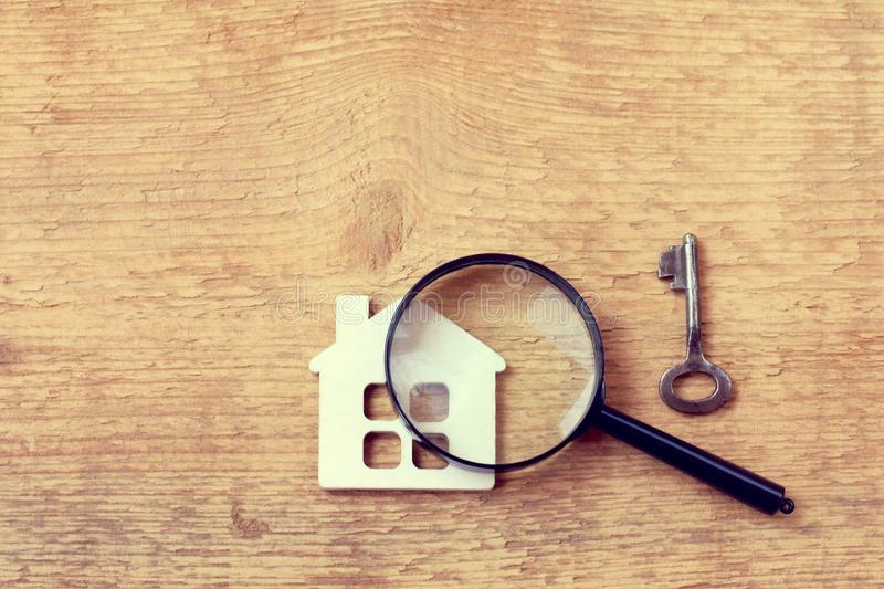 Thorough property inspection stock photography