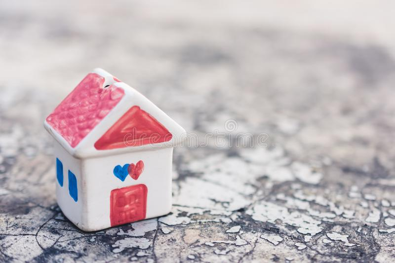 Model house on old ground royalty free stock photos