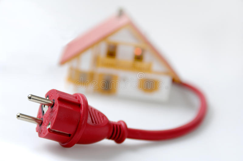 Download Model house with red plug stock photo. Image of light - 9657828