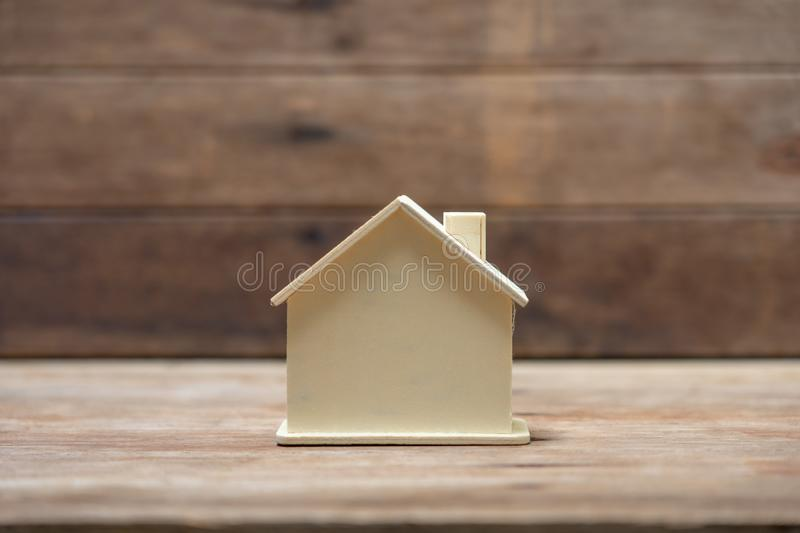 A model house model .using as background business concept and real estate concept with copy space for your text or design. A model house model .using as royalty free stock photo