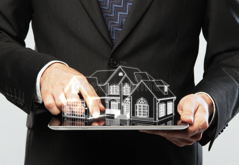 Model hus arkivfoton