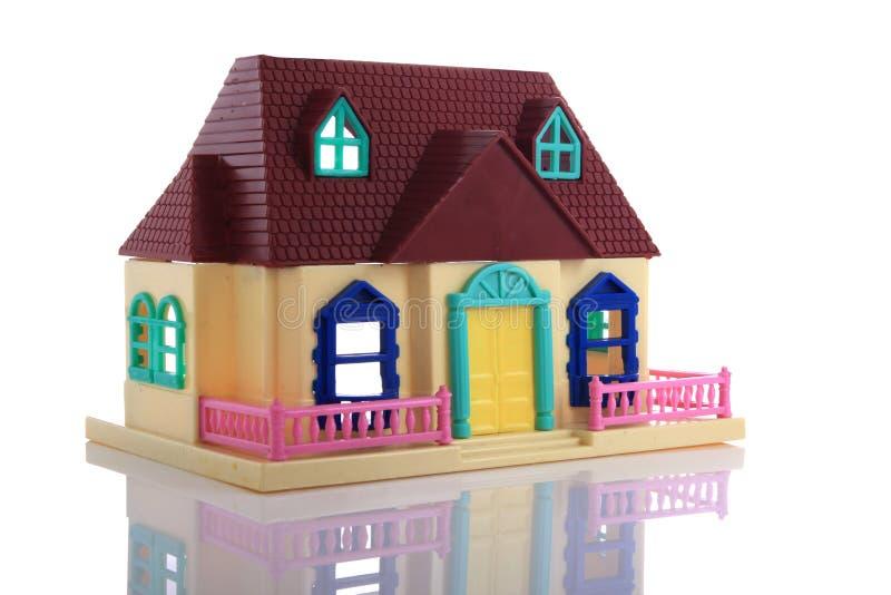 Model hus arkivbild