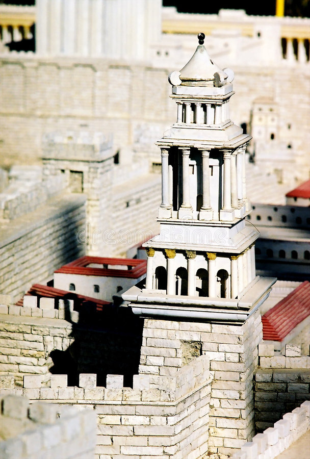 Model of Jerusalem city stock photo