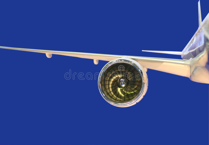 Model of the jet engine stock photos