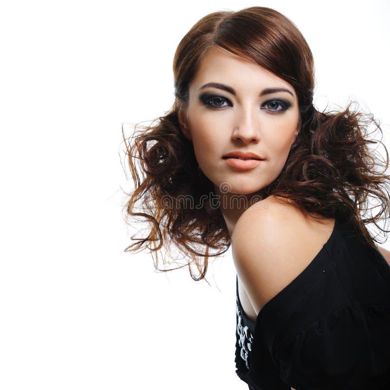 model kędzierzawy mody włosów model zdjęcia royalty free