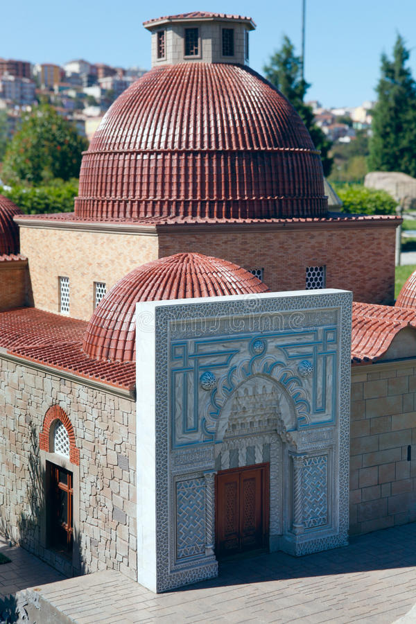 Model of Karatay Madrasah. In Miniaturk,Istanbul.Miniaturk is a miniature park which contains models of famous structures from Istanbul,Anatolia and Ottoman stock photo