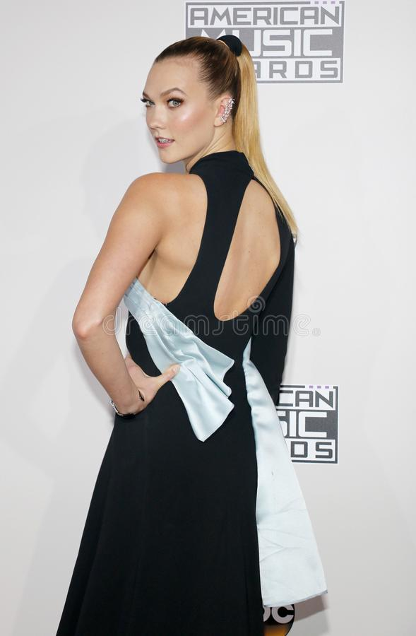 Model Karlie Kloss. At the 2016 American Music Awards held at the Microsoft Theater in Los Angeles, USA on November 20, 2016 royalty free stock images