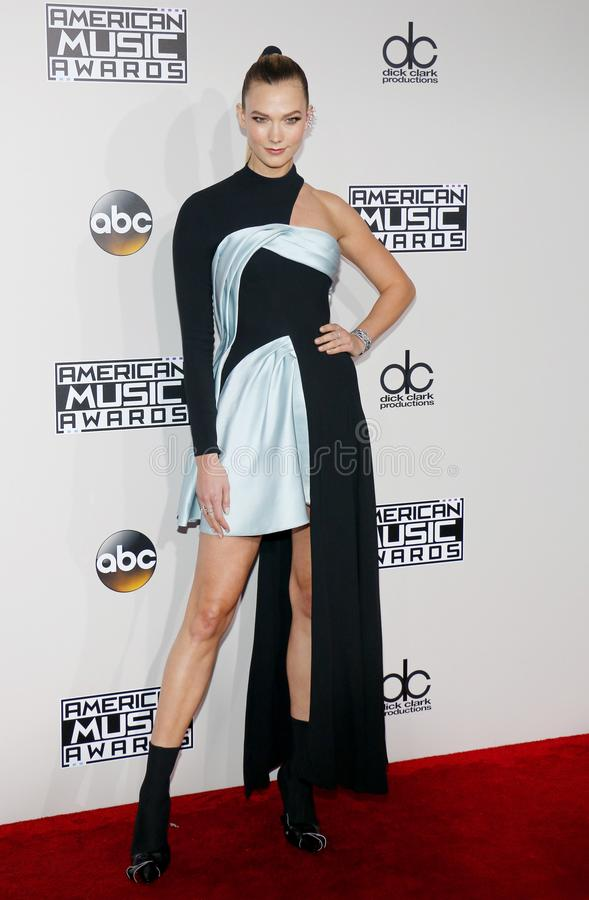 Model Karlie Kloss. At the 2016 American Music Awards held at the Microsoft Theater in Los Angeles, USA on November 20, 2016 stock image