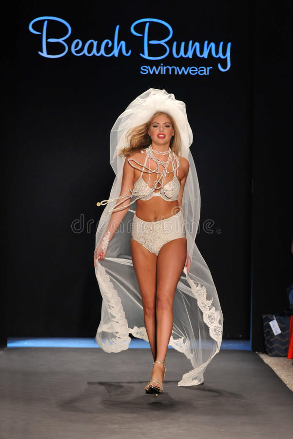 Download Model Kate Upton Walks Runway At The Beach Bunny Swimsuit Collection For Spring/ Summer 2012 Editorial Photo - Image: 28836766