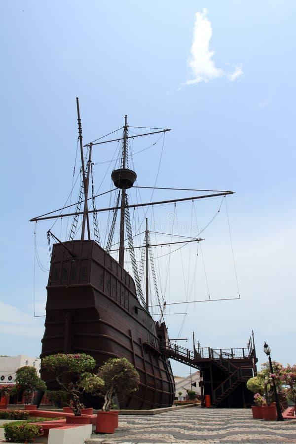 model krigsskepp arkivbild