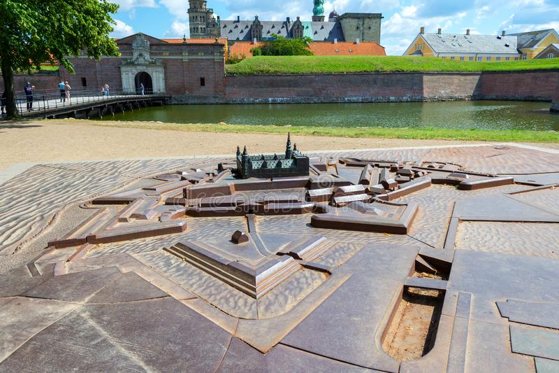 Model of the Kronborg castle. Denmark. Sights. Architecture royalty free stock photo