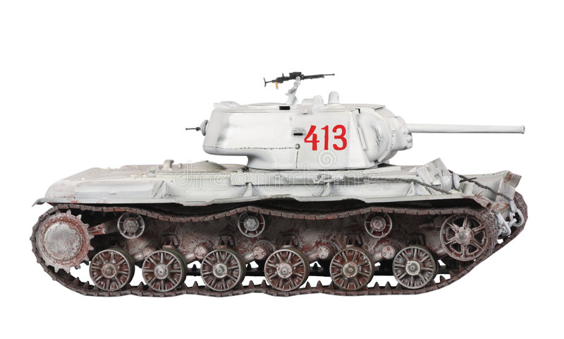 Model Of KV-1 Tank Stock Photography