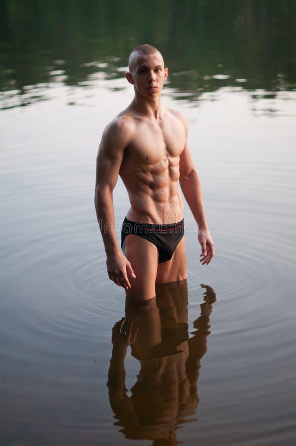 Model at the lake stock photos