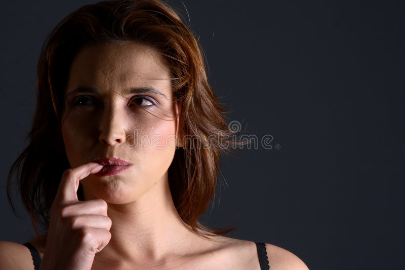 Download Model lick stock photo. Image of finger, expression, adult - 1558128
