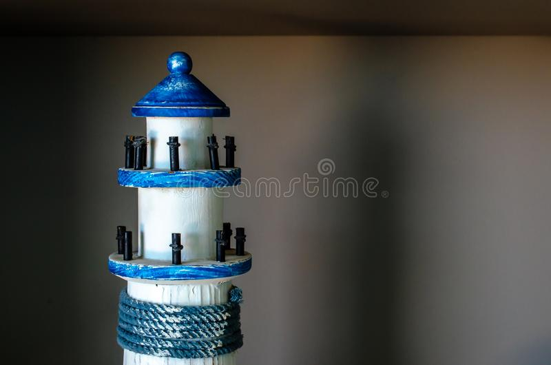 Model Lighthouse. Miniature lighthouse used for display and decoration stock images