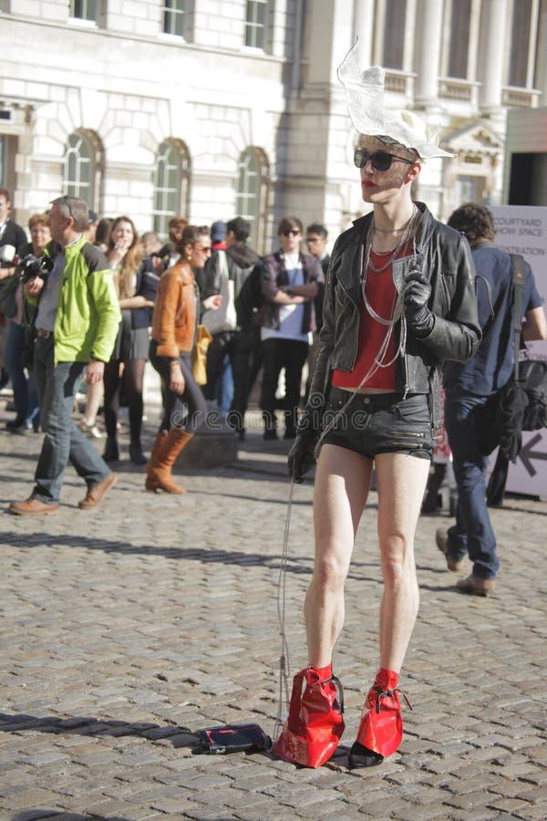 Download Model At London Fashion Week Editorial Stock Photo - Image of facial, eyes: 26676688