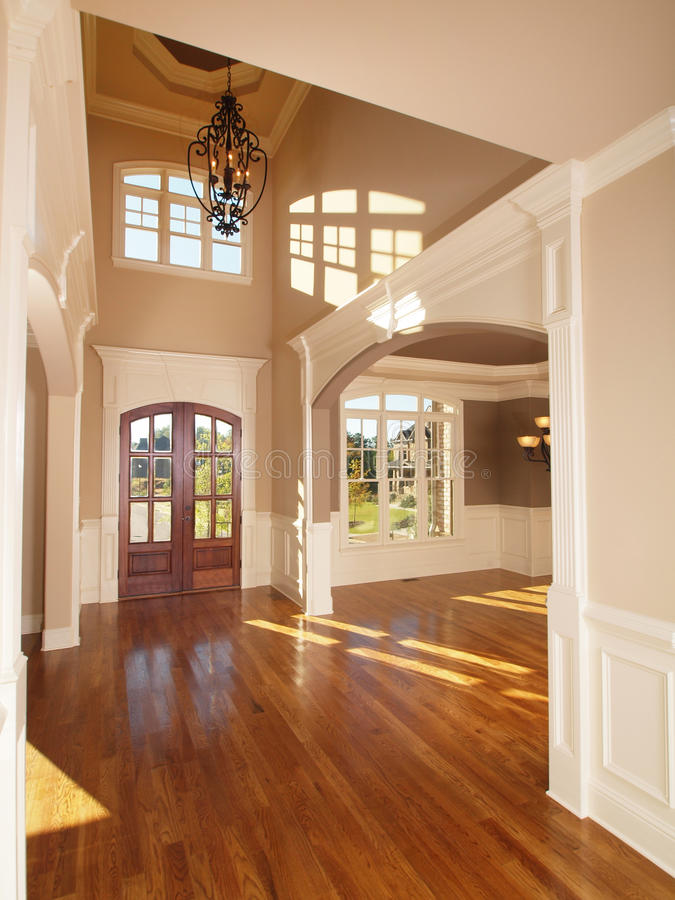 Model Luxury Home Interior Front Entrance Archway royalty free stock photos