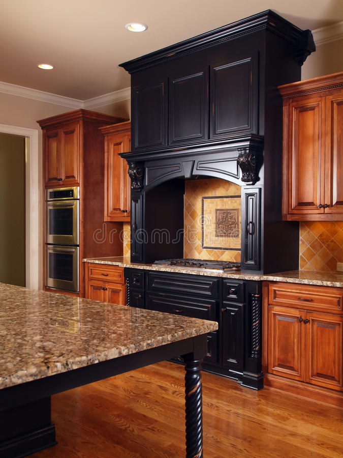 Model Luxury Home Interior Kitchen royalty free stock photography