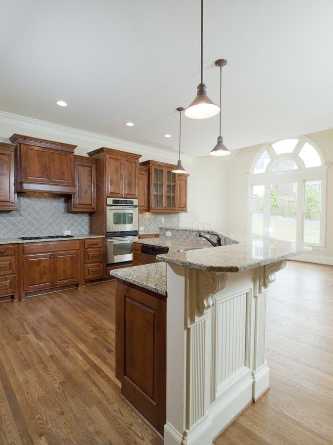 Home Interior Kitchen: Model Luxury Home Interior Kitchen Arch Window Stock Image