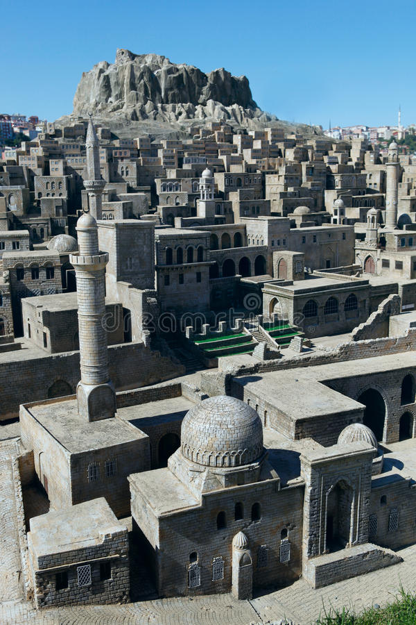 Model of Mardin City. In Miniaturk,Istanbul.Miniaturk is a miniature park which contains models of famous structures from Istanbul,Anatolia and Ottoman stock photos