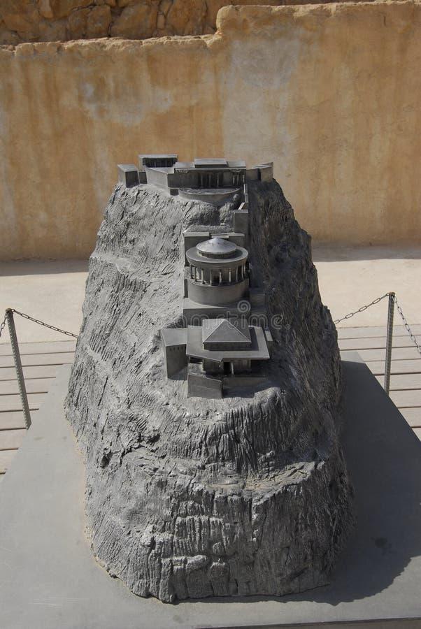 Model of Masada fortress stock image