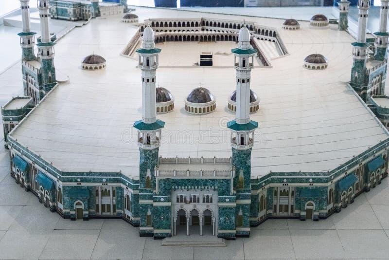 Model Masjid Al Haram w muzeum obrazy stock