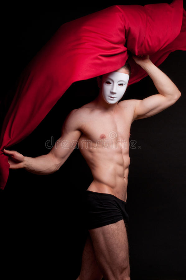 Model in mask stock photography