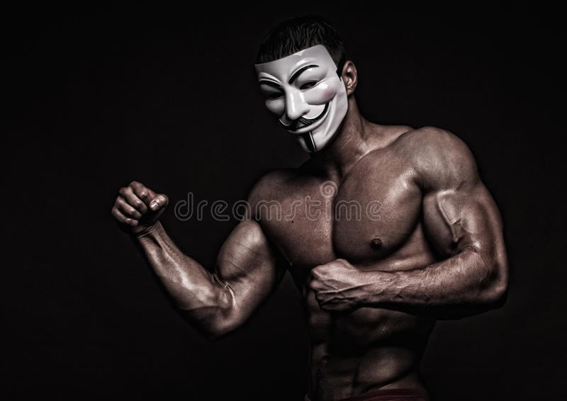 Model in a mask stock photography