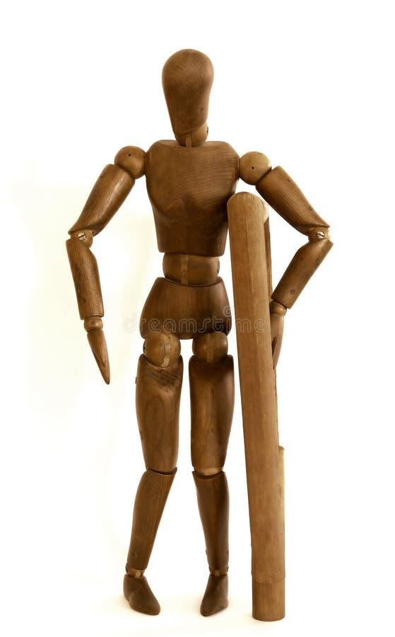 Model met steunpilaar stock foto