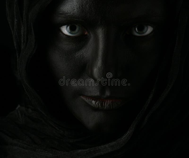 Model met zwart gezicht royalty-vrije stock foto