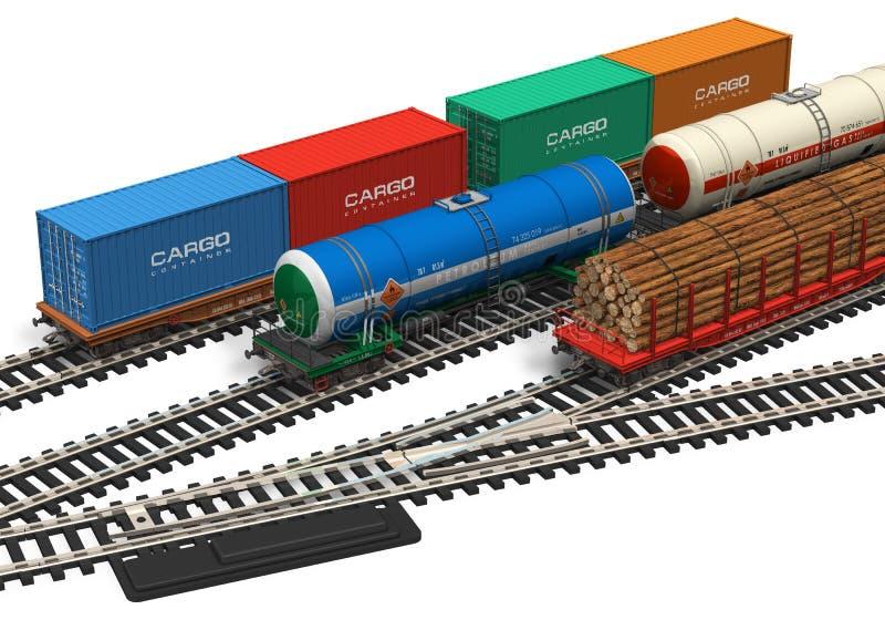 model miniaturowa linia kolejowa ilustracji