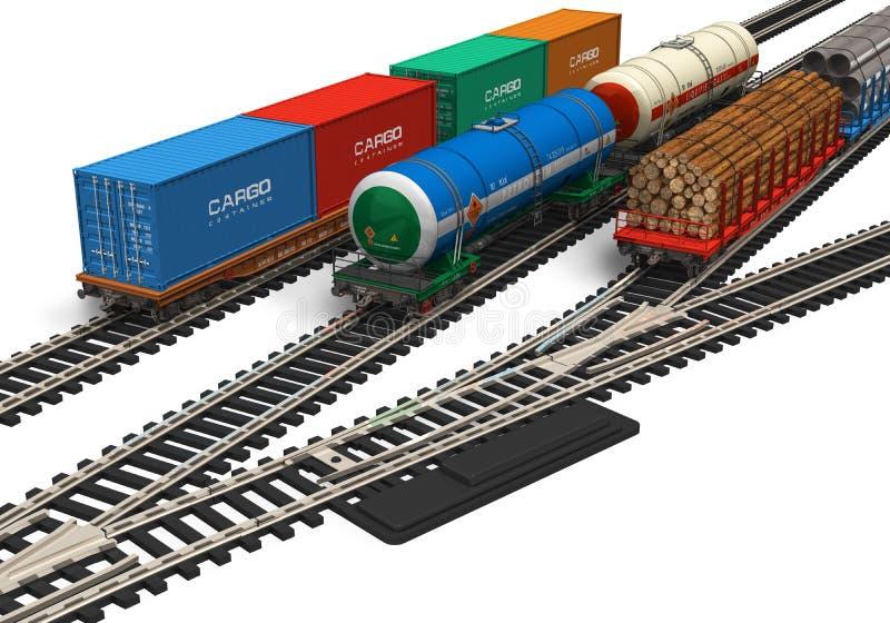 model miniaturowa linia kolejowa ilustracja wektor